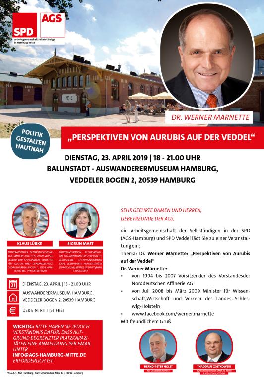 AGS Hamburg - Dr. Werner Marnette: Perspektiven von Aurubis auf der Veddel